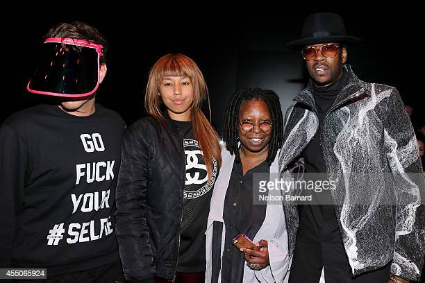 Perez Hilton Jerzey Dean Whoopi Goldberg and 2 Chainz attend the Skingraft fashion show during MercedesBenz Fashion Week Spring 2015 at The Pavilion...