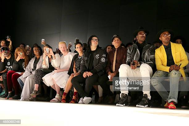 Perez Hilton Jerzey Dean Whoopi Goldberg Stacy London Shaun Ross Ally Hilfiger Skrillex Phillip Bloch and Will i Am attend the Skingraft fashion show...