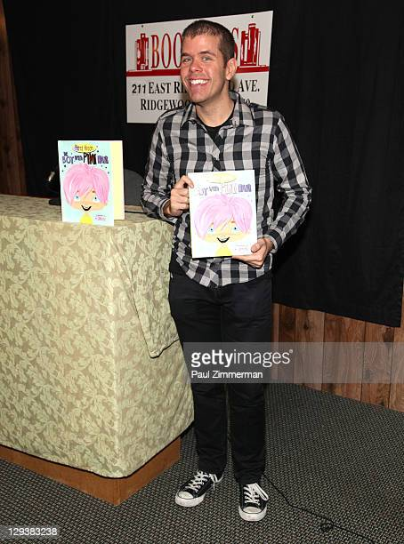"""Perez Hilton promotes """"The Boy with Pink Hair"""" at Bookends Bookstore on October 16, 2011 in Ridgewood, New Jersey."""