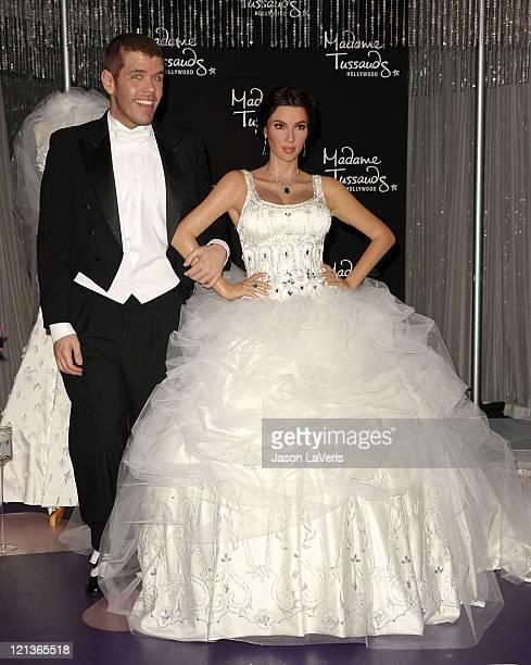 Perez Hilton Unveils A Kim Kardashian Wax Figure In Wedding Dress At Madame Tussauds Hollywood