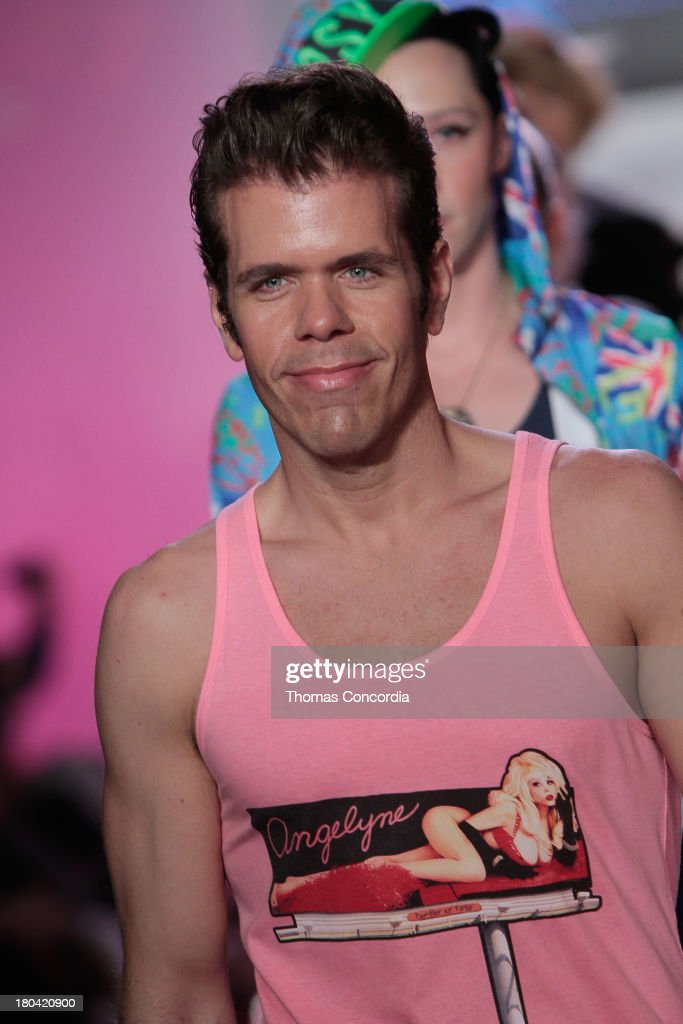 Perez Hilton walks the runway during Tumbler and Tipsy by Michael Kuluva presented by AIDS Healthcare Foundation at the STYLE360 Fashion Pavilion in Chelsea on September 12, 2013 in New York City.