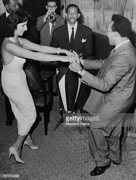 Perez Pantalon Prado And Gisele Robert Dancing Cha Cha Cha In Paris On September 1955