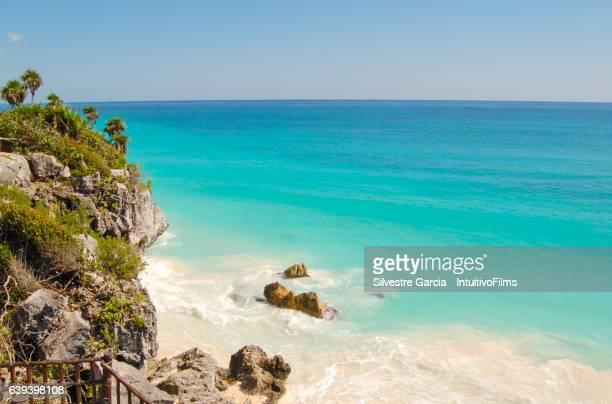 Perfect beach in Mayan riviera mexico