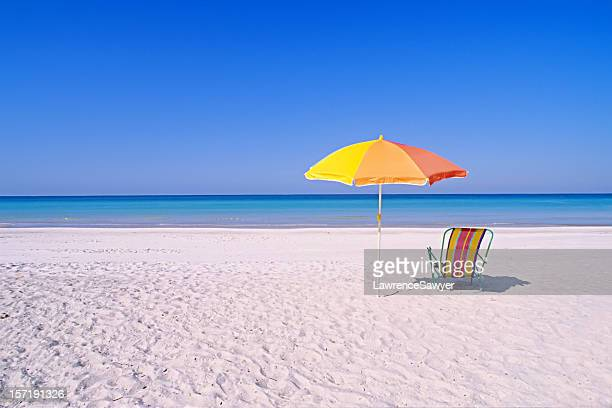 perfect beach setting - anna maria island stock pictures, royalty-free photos & images