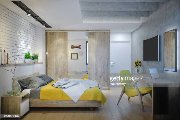 perfect  bedroom - hostel stock pictures, royalty-free photos & images