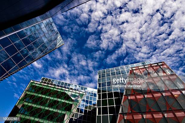 perfect blue buildings - catherine macbride stock pictures, royalty-free photos & images