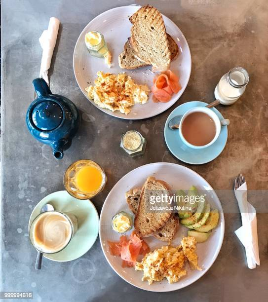 perfect breakfast - nikitina stock pictures, royalty-free photos & images