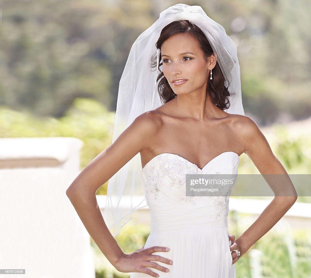 Perfect bridal pose : Stock Photo
