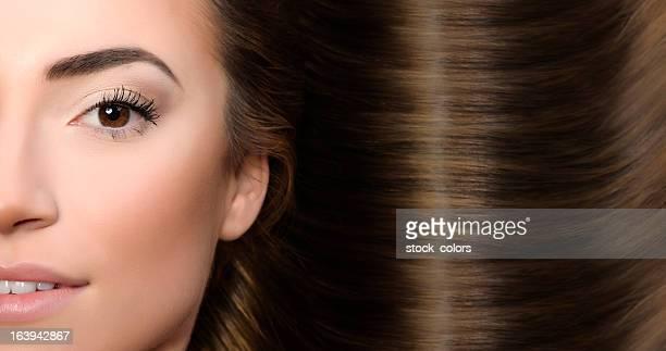 parfait cheveux bruns - brown hair photos et images de collection