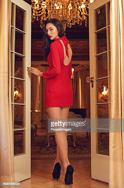 perfect elegance - woman open legs stock photos and pictures