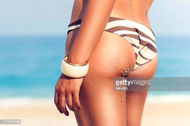 perfect female body - woman bum stock photos and pictures