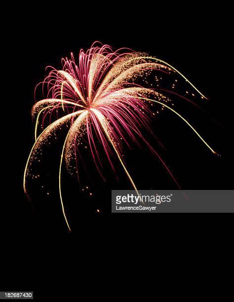 fogos de artifício explodem em perfeita - quarta feira - fotografias e filmes do acervo
