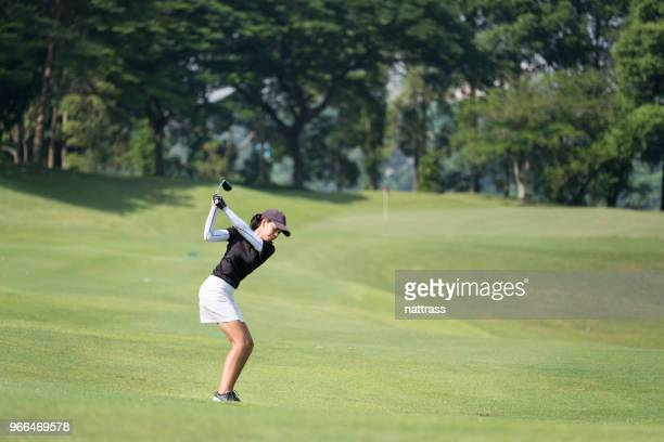 perfect golf shot - golfer stock pictures, royalty-free photos & images