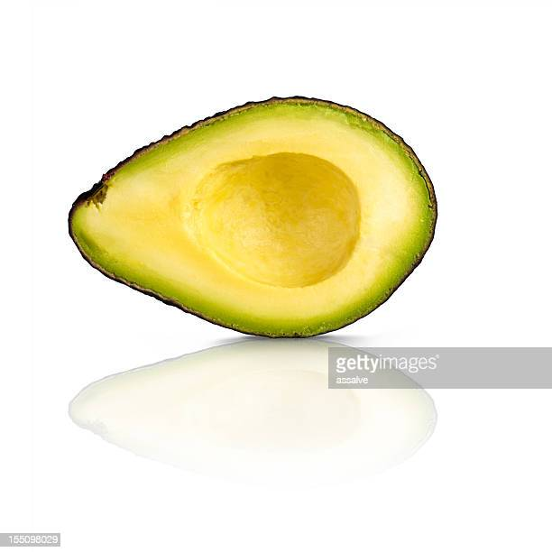 perfect half of an avocado section