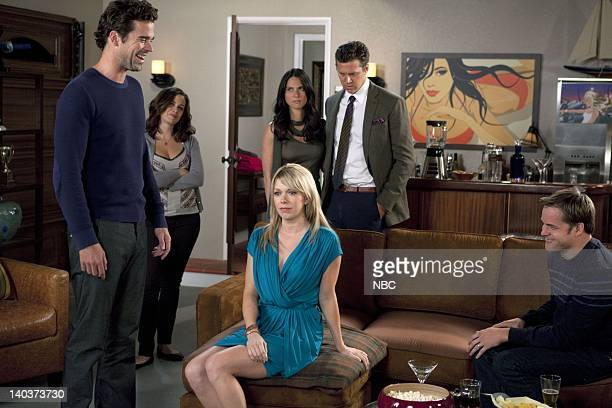 COUPLES Perfect Health Episode 105 Pictured David Walton as Vance Christine Woods as Julia Mary Elizabeth Ellis as Amy Olivia Munn as Leigh Hayes...