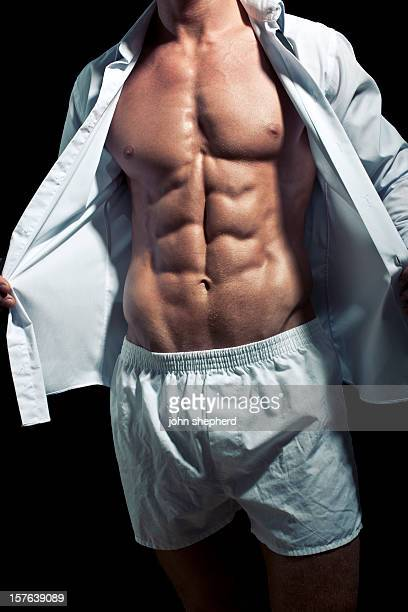 perfect male torso - boxershort stock pictures, royalty-free photos & images
