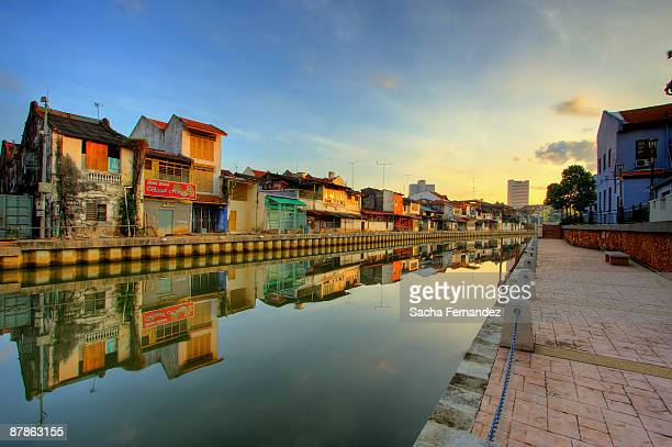 perfect morning malacca river - melaka state stock pictures, royalty-free photos & images