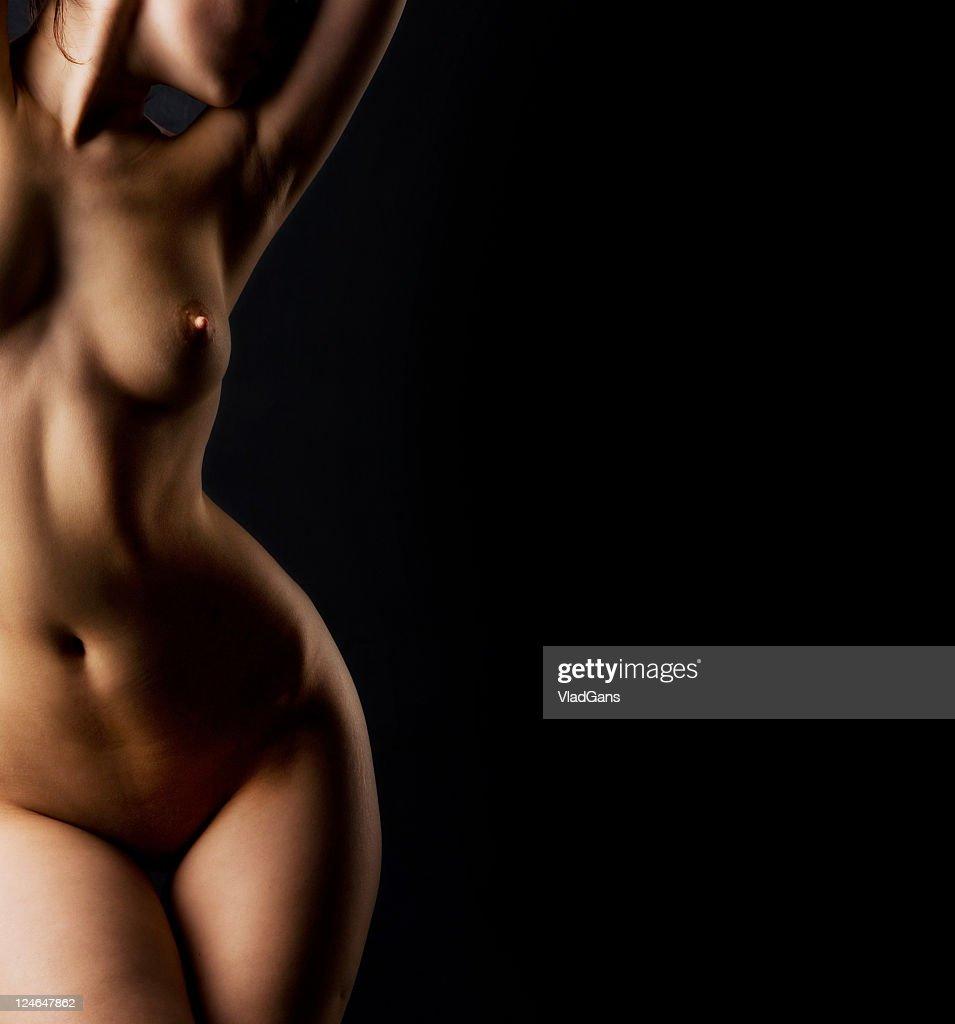 Menina nude perfeita torso : Foto de stock
