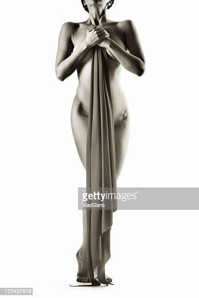 perfect nude girl torso - menselijk been stockfoto's en -beelden