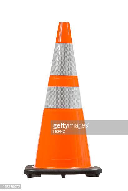 perfect pylon safety cone w/ clipping path - traffic cone stock pictures, royalty-free photos & images