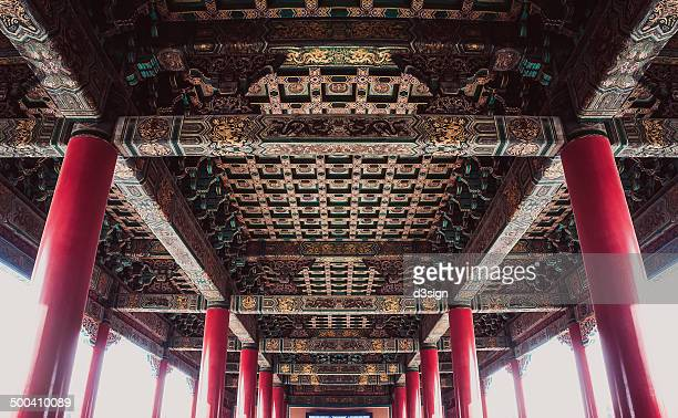 Perfect symmetry of Chinese architecture