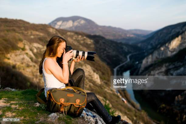 perfect view for photos - photographer stock photos and pictures