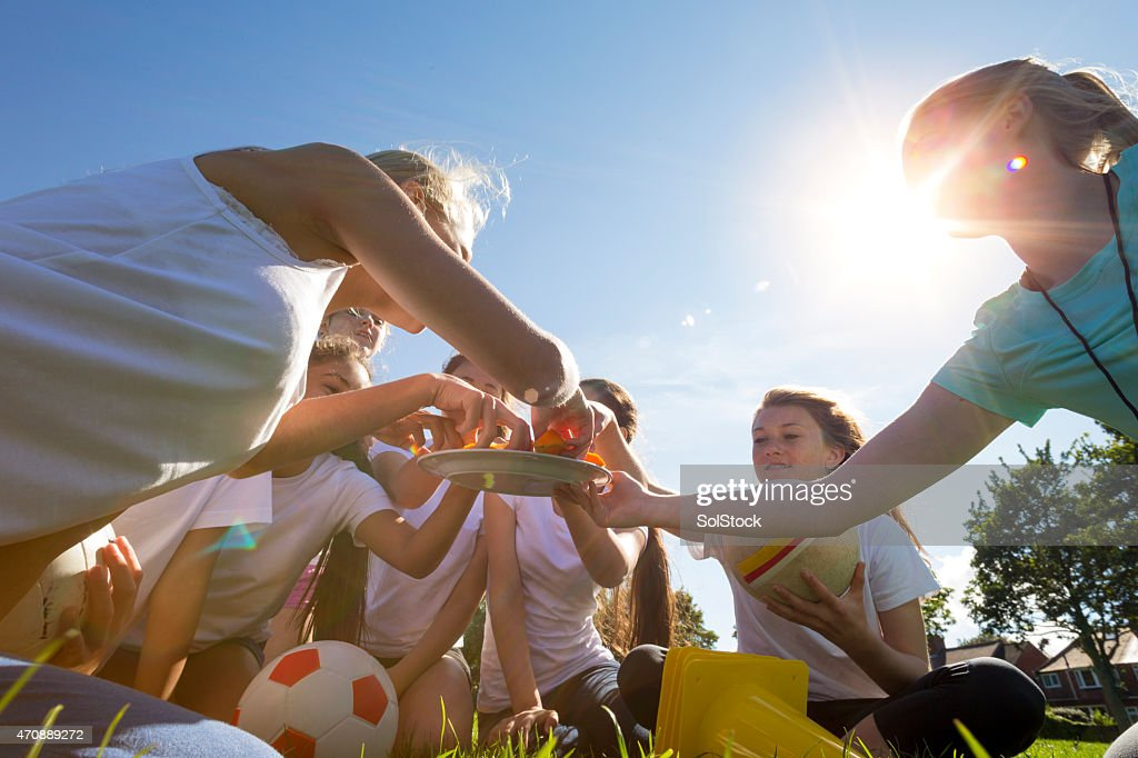 Perfect weather for a game of soccer : Stock Photo