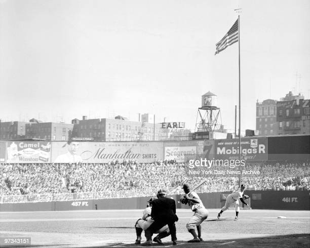 Perfection Personified Yankees' Man of the Moment Don Larsen first pitch of game 5 to Gilliam and of course it was a strike Larsen hurled first...