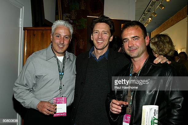 Perfectly Honest producer John Scaccia actor Andrew McCarthy and 2B Perfectly Honest producer Jeff Mazzola pose at the Kodak Producers' Reception...