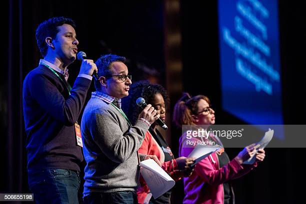 Perfomers on stage during BroadwayCon 2016 at the New York Hilton Midtown on January 24, 2016 in New York City.