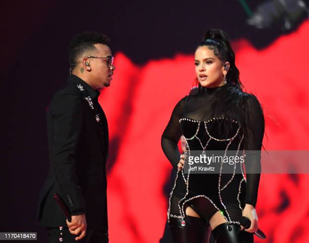 ROSALÍA perfoms onstage during the 2019 MTV Video Music Awards at Prudential Center on August 26 2019 in Newark New Jersey