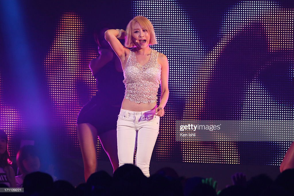 NICOLE perfoms onstage during the MTV VMAJ 2013 at Makuhari Messe on June 22, 2013 in Chiba, Japan.