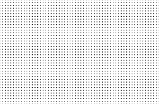 Perforated holes. Seamless metal grille. Wire fence isolated on white background. Circle pattern. illustration 1125297727