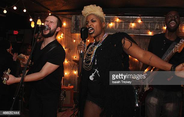 SATE perform at A Night Of Dirty Rock Blues Funk From SATE Inside The Dakota Tavern With Special Guests on March 12 2015 in Toronto Canada