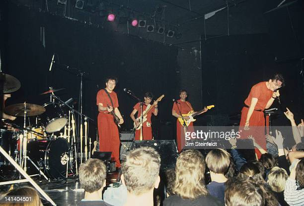Jerry Casale Bob Mothersbaugh Bob Casale Mark Mothersbaugh perform at First Avenue nightclub in Minneapolis Minnesota in 1988