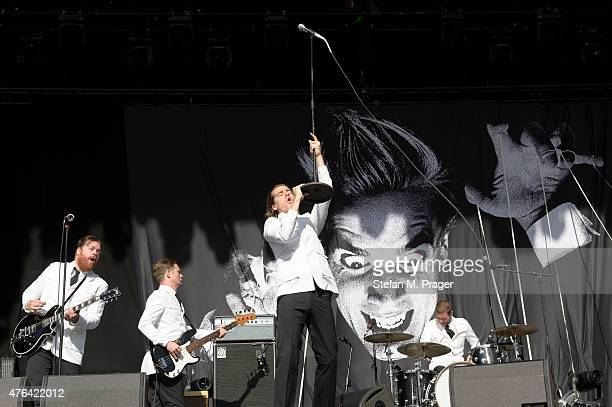 HIVES perform at Olympiapark on May 29 2015 in Munich Germany