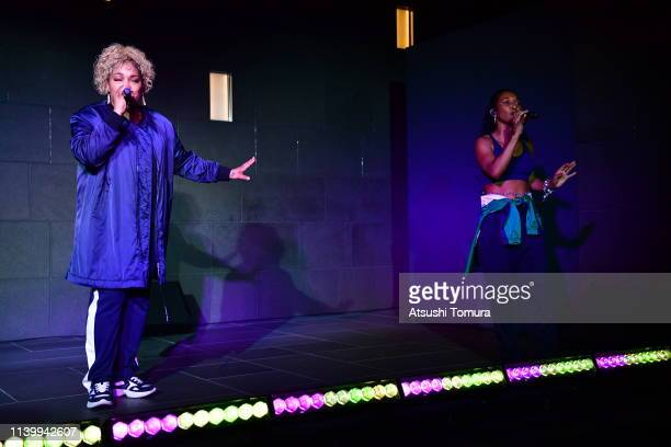 TLC perform during the Tory Burch Ginza Boutique Opening After Party on April 02 2019 in Tokyo Japan