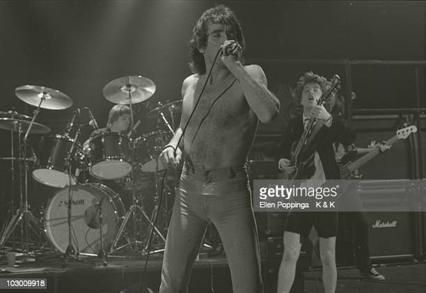 DC perform live on stage in Germany in October 1978 LR Phil Rudd Bon Scott Angus Young Cliff Williams