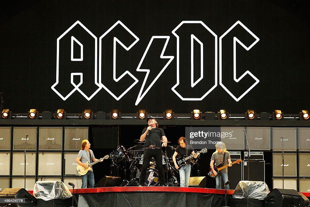 AC/DC 'Rock Or Bust' World Tour Media Call : Nachrichtenfoto