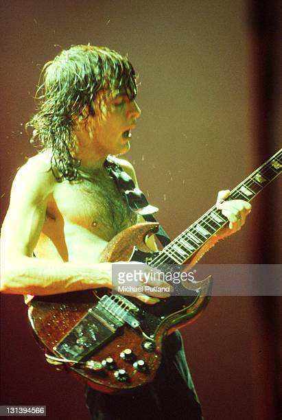 AC/DC perform on stage in London Angus Young