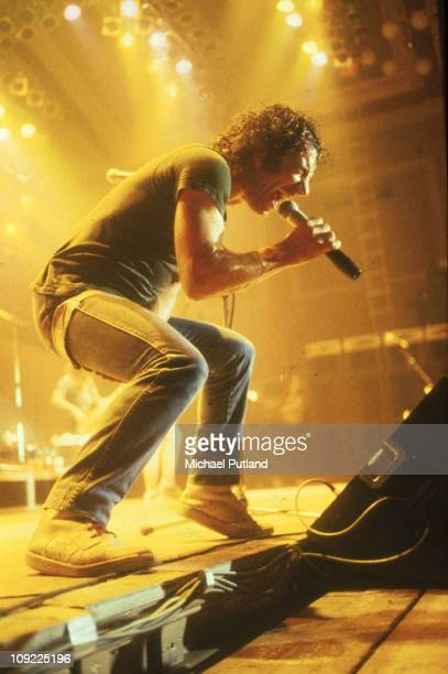 AC/DC perform on stage in London Brian Johnson