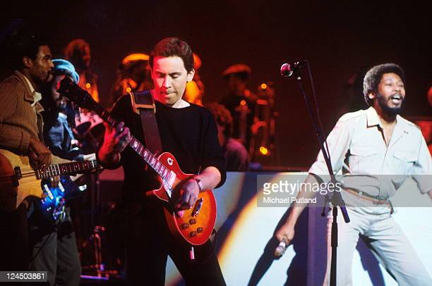 UB40 perform on stage London September 1980 LR Earl Falconer Robin Campbell