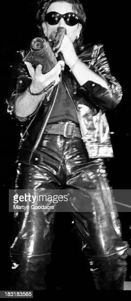 U2 perform on stage on their Zoo TV tour Estadio Jose Alvalade Lisbon Portugal 15th May 1993