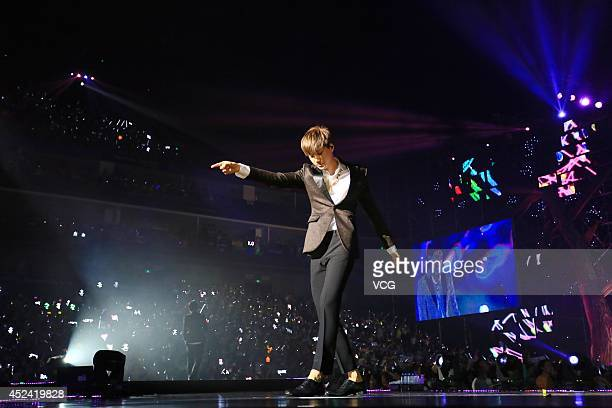 EXO perform onstage at MercedesBenz Arena in July 18 2014 in Shanghai china