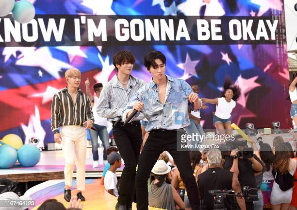 X perform onstage during FOX's Teen Choice Awards 2019 on August 11 2019 in Hermosa Beach California