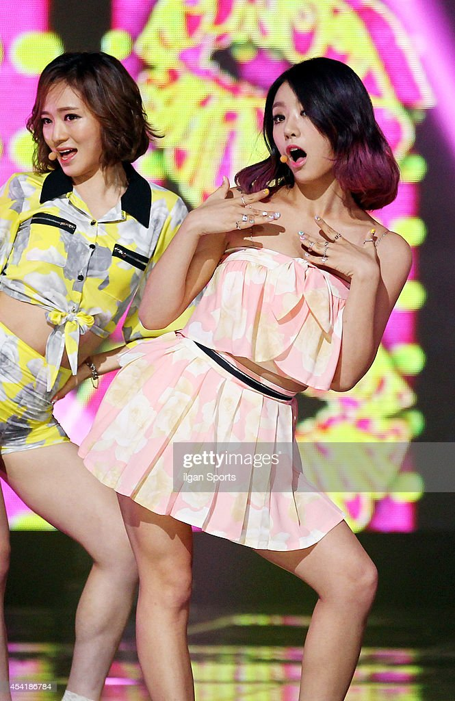 LADIES' CODE perform onstage during the Mnet 'M Count Down' at CJ E&M center on August 21, 2014 in Seoul, South Korea.