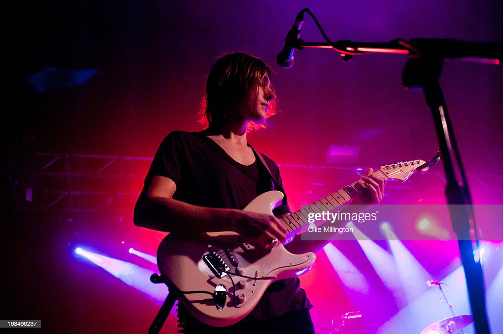 S perform onstage supporting Johnny Marr at O2 Academy on March 10, 2013 in Oxford, England.