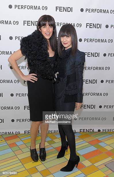 Performa conceptualist Jennifer Rubell and Performa director and curator RoseLee Goldberg attend the Performa 09 Opening Night Benefit Dinner at X...