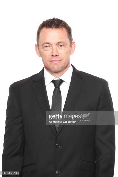 Performance Analyst Jamie Hamilton poses during a New Zealand All Blacks headshots session on May 21 2018 in Auckland New Zealand