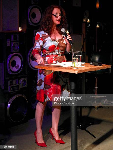 Performance artist Karen Finley reads at the Free Pussy Riot Public Reading at Liberty Hall at Ace Hotel on August 16 2012 in New York City